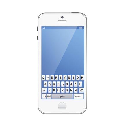 mobile phone - Original design vector illustration Illustration
