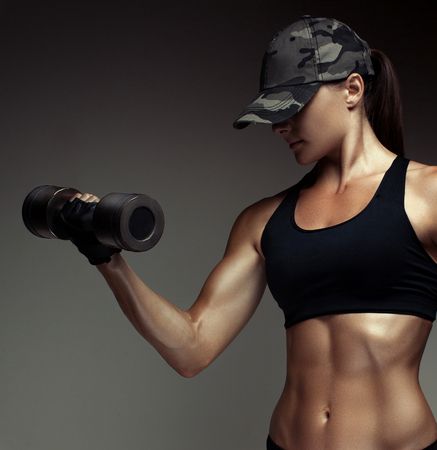 Cropped studio shot of a stunning hot sporty body of a fitness woman Banque d'images