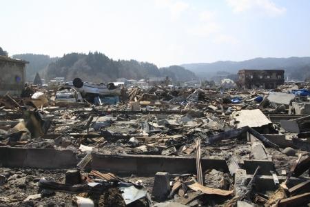 El Gran Terremoto del Este de Japón Foto de archivo