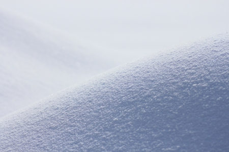 snowfield: snowfield in winter Stock Photo