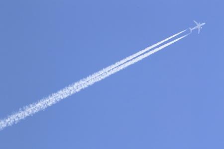 contrail: contrail in blue sky