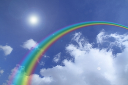 Beautiful rainbow in the sky  photo