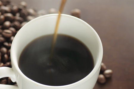 Cup of hot coffee  photo