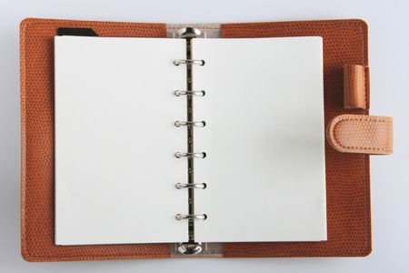 notebook on white backgroud photo