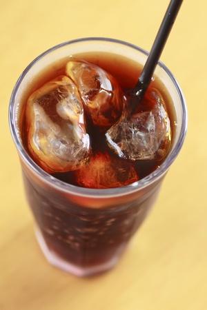 Close up  The Iced coffee Stock Photo - 12015574