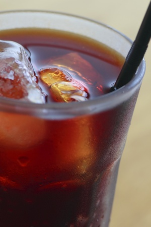 Close up  The Iced coffee Stock Photo - 12015577