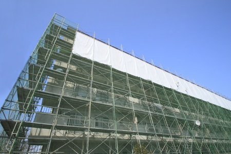 Construction work site  and Scaffolding  in  iwate,japan