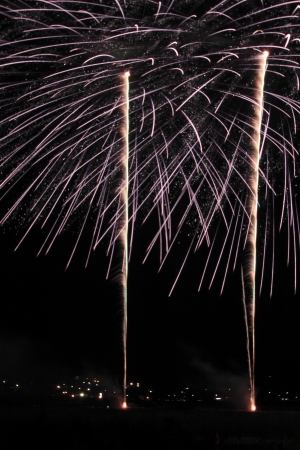 Japanese traditional fireworks in the night sky Stock Photo - 14845122