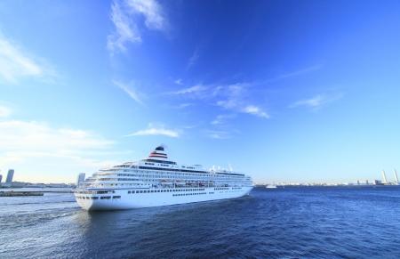 cruise ship at Yokohama Osanbashi Pier in Japan Editorial