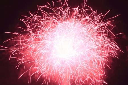 Japanese traditional fireworks against the night sky  in Japan Stock Photo - 15003400