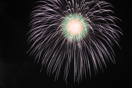 Japanese traditional fireworks against the night sky  in Japan Stock Photo - 15003499