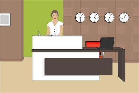 Reception desk Illustration