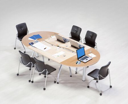 Meeting table on a white background