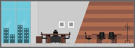 Office lobby color illustration