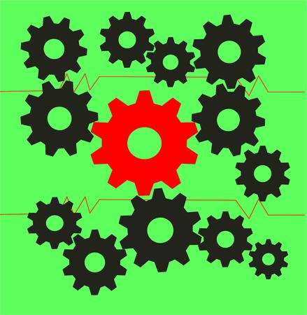 gear gears  vector cogs icon
