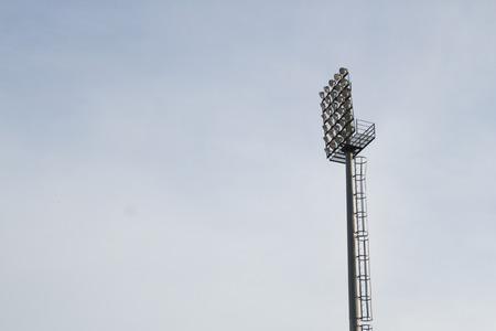 alumina: closed spotlight tower Stock Photo
