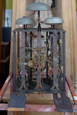 ironwork: Uncoverred Antique Clock Stock Photo