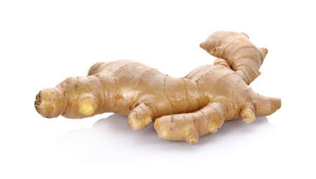 ginger root: ginger on white background