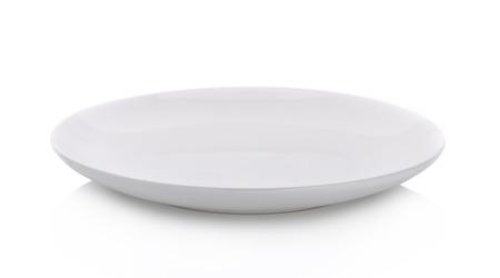 at white: white plate on white background