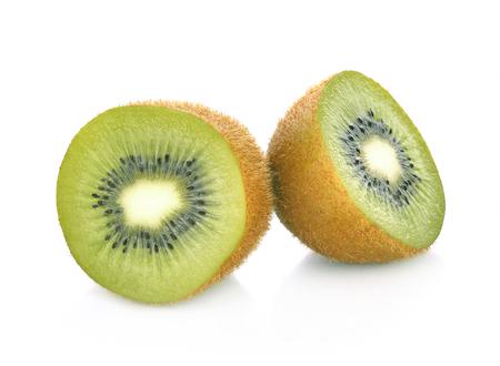 fruta tropical: Kiwi aisladas sobre fondo blanco Foto de archivo