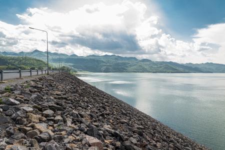 kanchanaburi: Srinagarind dam ,Kanchanaburi province ,Thailand