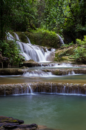 Huay Mae Khamin Watarfall situated in Srinakarin National park ,Srisawat district ,Kanchanaburi province Thailand