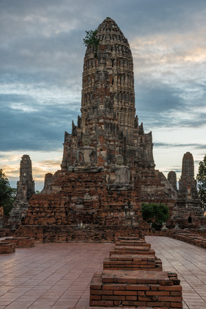 Wat Chaiwattanaram Temple ,A part of Ayutthaya historical park ,Locate on Ayutthaya province ,Thailand