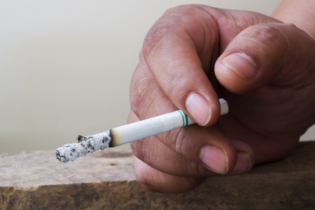 disapprove: Smoking for disease and death. Stock Photo