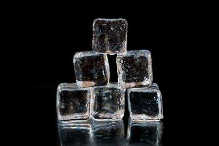Ice on a dark background Stock Photo