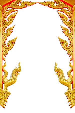 Thai golden frame pattern on a white background  photo
