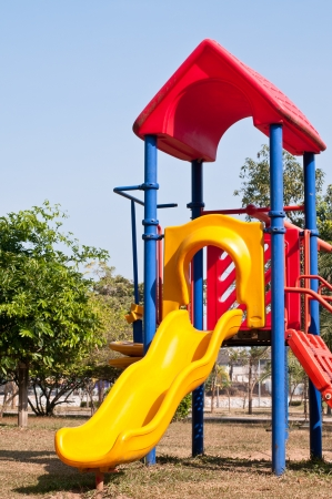 Modern children playground in park Stock Photo - 14653809