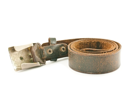 Brown leather belt photo