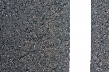 New asphalt texture with white line photo