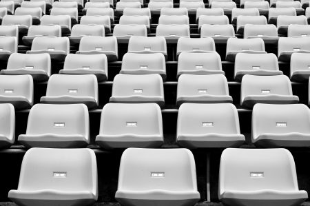Black and White Stadium seating photo