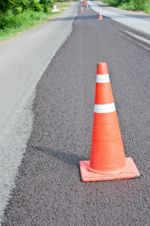 restricting: Preventing, restricting the movement of damaged road