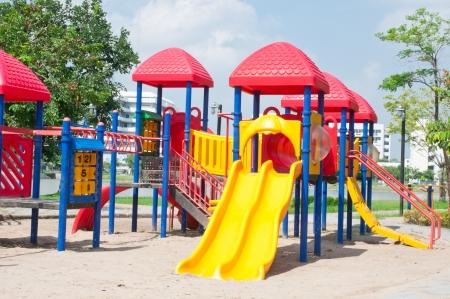 Modern children playground in park Stock Photo - 15392806