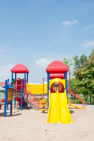Modern children playground in park Stock Photo - 15390185