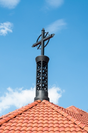 Cross against the Blue Sky  photo
