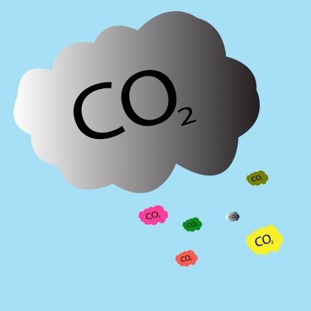 carbon monoxide: Carbon dioxide symbol - CO2