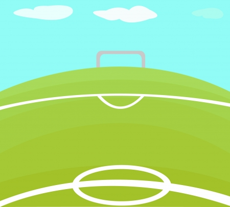 Abstract background with soccer field   illustration   Illustration