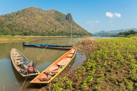Boats on the Mekong River  photo
