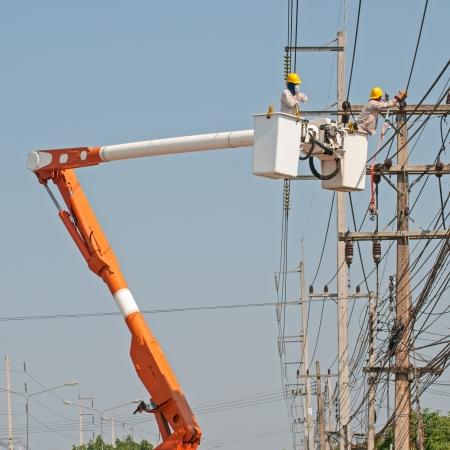 Electrical maintenance  Stock Photo