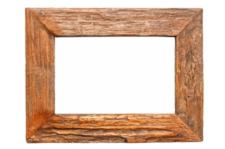 白で隔離される木製の枠