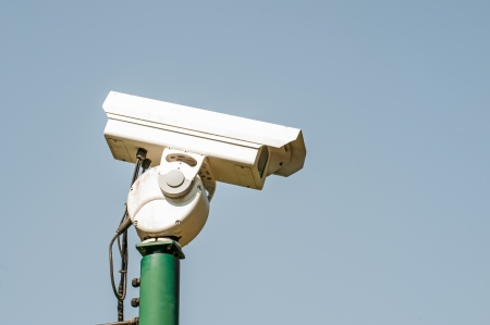 sky bachground: CCTV Security camera