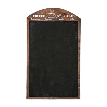 blank blackboard menu on a white background  photo