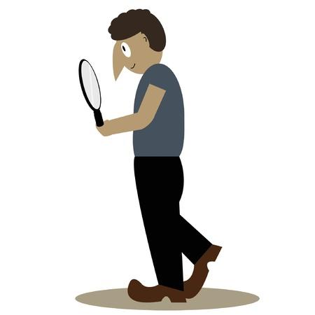 Cartoon detective - Stock Vector - 18555445