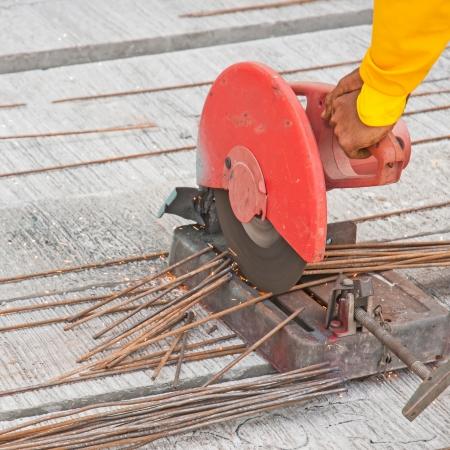 close up cutting steel photo