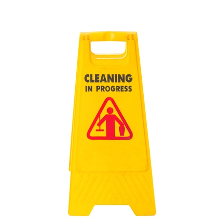 mopped: Cleaning in progress sign