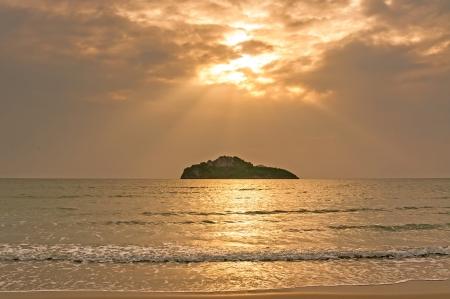 Sunrise over the sea, Prachuap Khiri Khan, Thailand photo