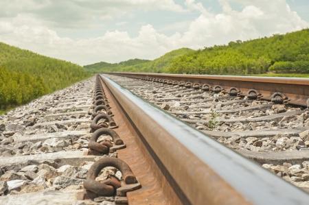 ballast: Railway  Stock Photo